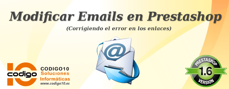 banner modificar emails en prestashop