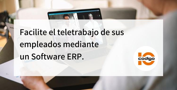 teletrabajo de sus empleados mediante un Software ERP