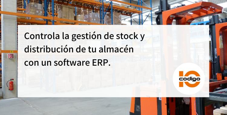 control stock con software ERP