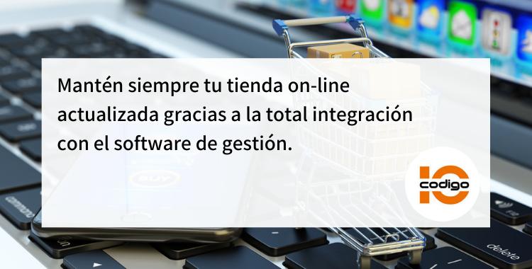 Mantén siempre tu tienda on-line actualizada gracias a la total integracion software gestion
